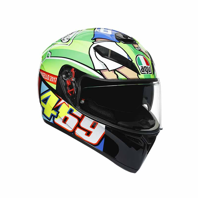 AGV K3 SV Rossi Mugello 2017 motorhelm