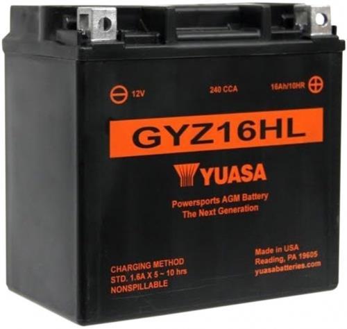 Yuasa Accu AGM onderhoudsvrij GYZ16HL Onderhoudsvrij