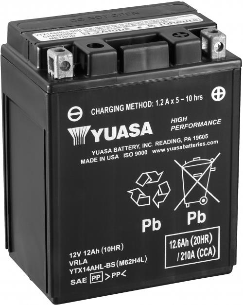 Yuasa Accu AGM onderhoudsvrij met zuur YTX14AHL-BS HPMF