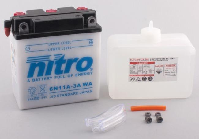 Nitro Accu 6N11A-3A conventioneel met zuur