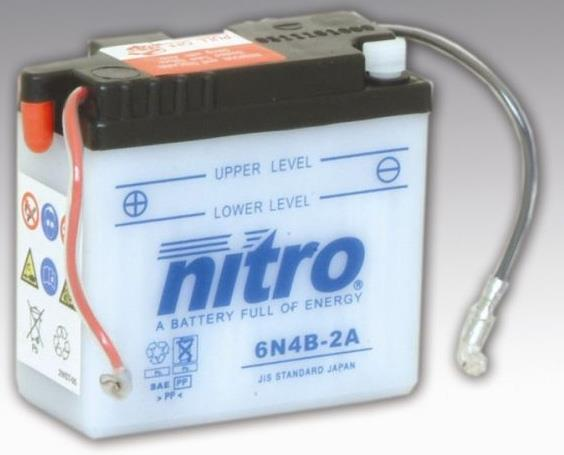 Nitro Accu 6N4-2A-4 conventioneel met zuur