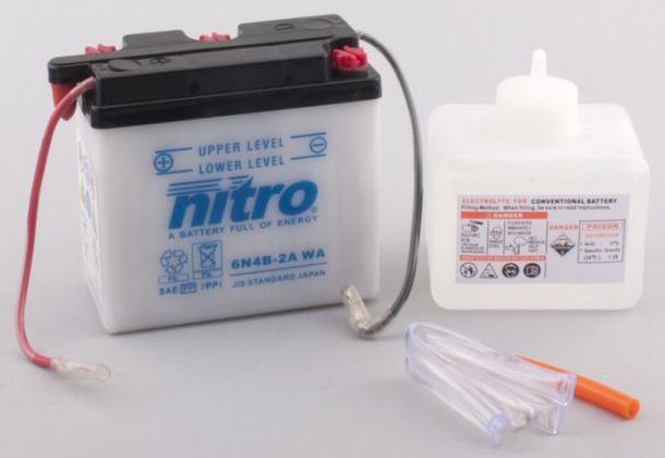 Nitro Accu 6N4B-2A conventioneel met zuur