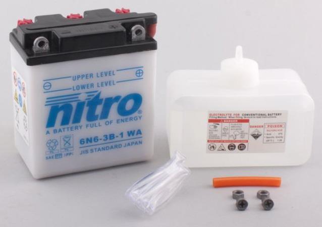 Nitro Accu 6N6-3B-1 conventioneel met zuur