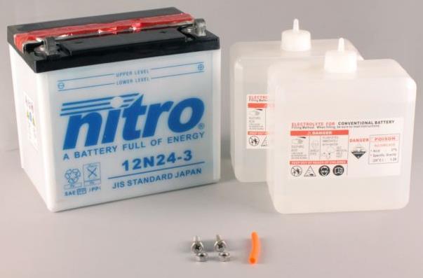 Nitro Accu 12N24-3 conventioneel met zuur