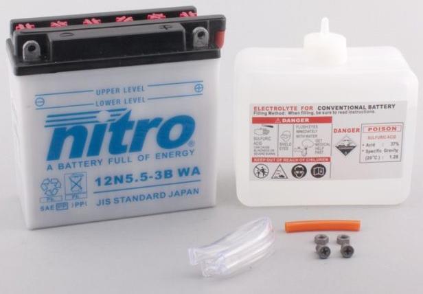 Nitro Accu 12N5.5-3B conventioneel met zuur