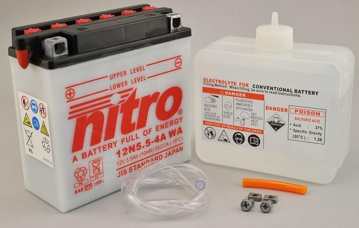 Nitro Accu 12N5.5-4A conventioneel met zuur