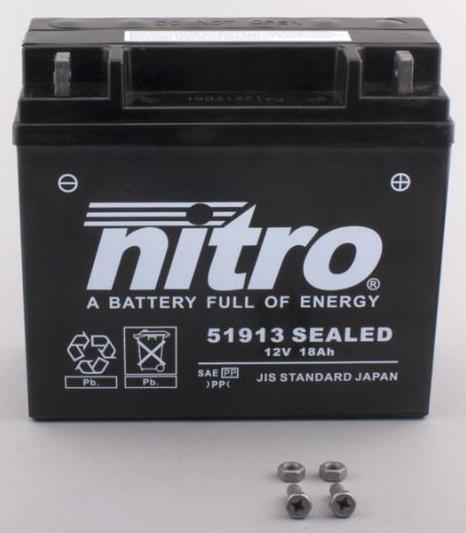 Nitro Accu 51913 SEALED conventioneel AGM gel