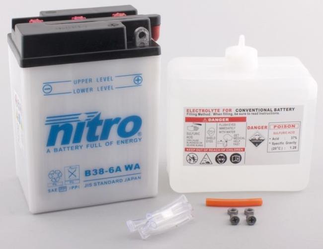 Nitro Accu B38-6A conventioneel met zuur