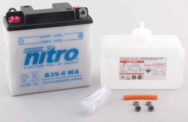 Nitro Accu B39-6 conventioneel met zuur