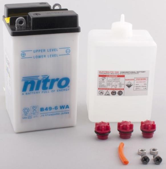 Nitro Accu B49-6 conventioneel met zuur