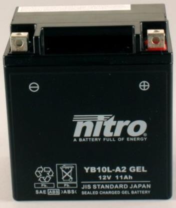 Nitro Accu YB10L-A2 conventioneel AGM gel