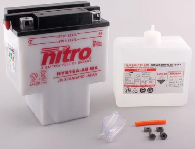 Nitro Accu HYB16A-AB conventioneel met zuur