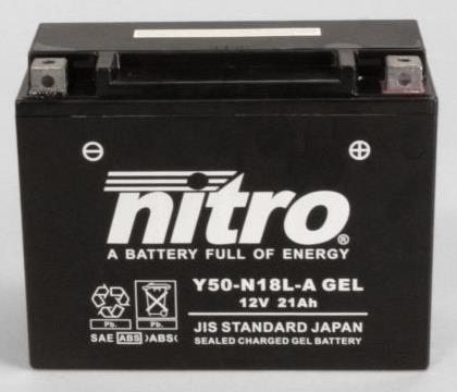 Nitro Accu Y50-N18L-A conventioneel AGM gel