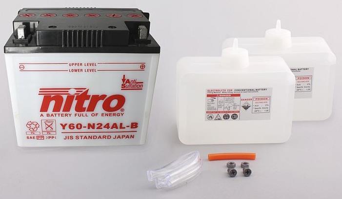 Nitro Accu Y60-N24AL-B conventioneel met zuur