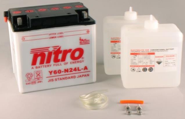 Nitro Accu Y60-N24L-A conventioneel met zuur