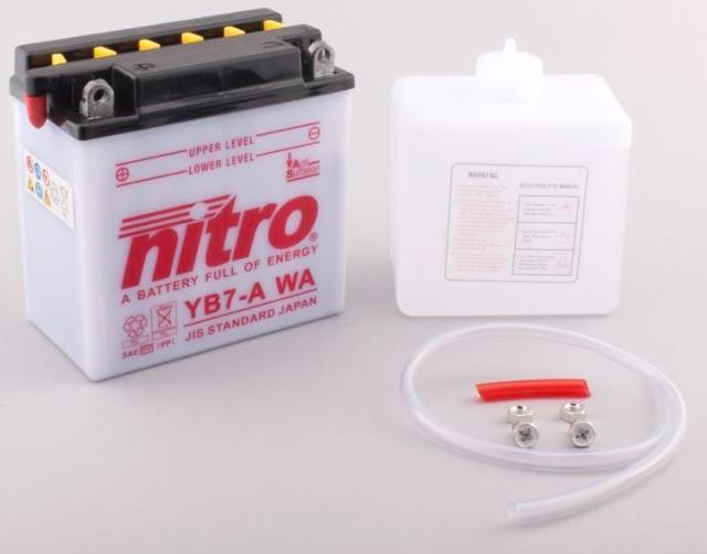 Nitro Accu YB7-A conventioneel met zuur