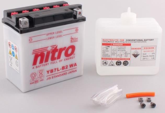 Nitro Accu YB7L-B2 conventioneel met zuur