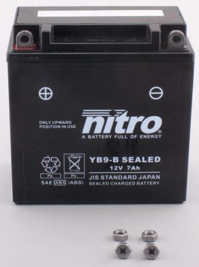 Nitro Accu YB9-B conventioneel AGM gel