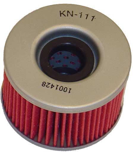 K&N Oliefilter Honda CB 125 - 450 / CBX 550 / CM 400 / CMX 450 / CX 400 - 650 / GL 550 / TRX 650 Rincon / VTR 250 KN-111