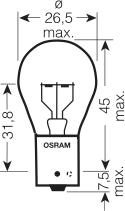 Osram lamp 12V 21W P21W STANDARD (10 stk)