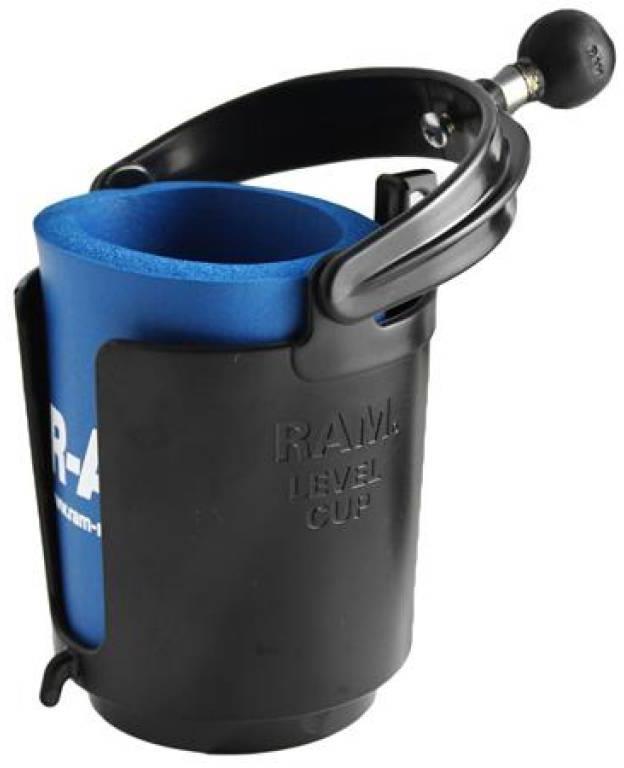 Ram Mounts Level Cup Drink Holder (Bekerhouder) with koozie ( RAM-B-132BU)