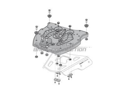 SW-Motech Quick-lock adapterplaat Trax Topbox