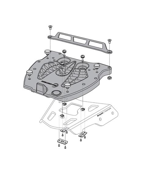 SW-Motech Quick-lock adapterplaat Givi/Kappa/Monolock