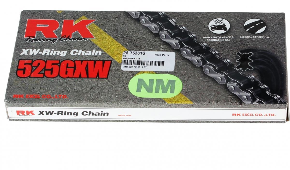 RK NM525GXW 114 CLF ketting (klinkschakel) GREEN