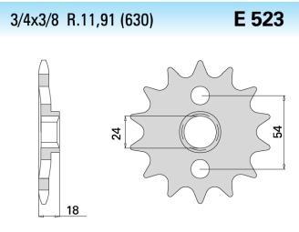 Chiaravalli voortandwiel 15T