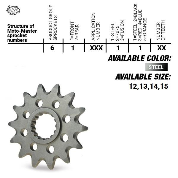 Moto Master STEEL 13T 520 voortandwiel