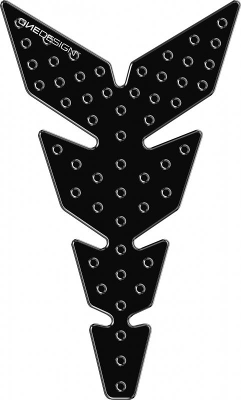 TANKPAD, BLACK WITH DOME BUBBLES