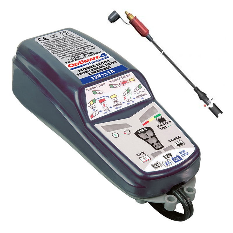 Tecmate Optimate 4 1A CAN-BUS Edition druppellader