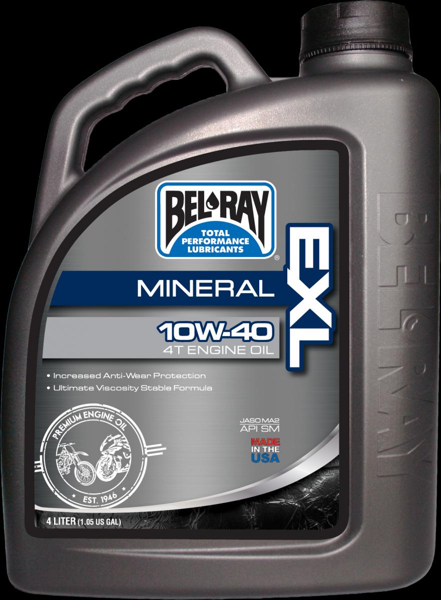 Bel-Ray EXL Mineral 4T 10W-40 motorolie (4L)