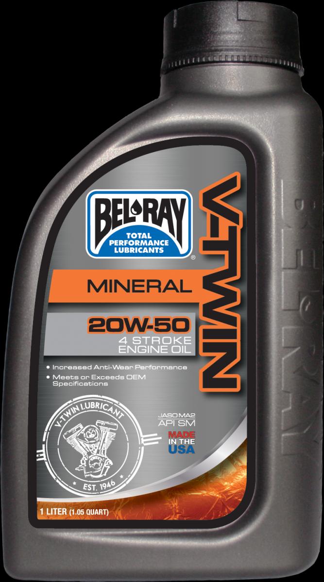 Bel-Ray V-Twin Mineral 20W-50 motorolie (1L)