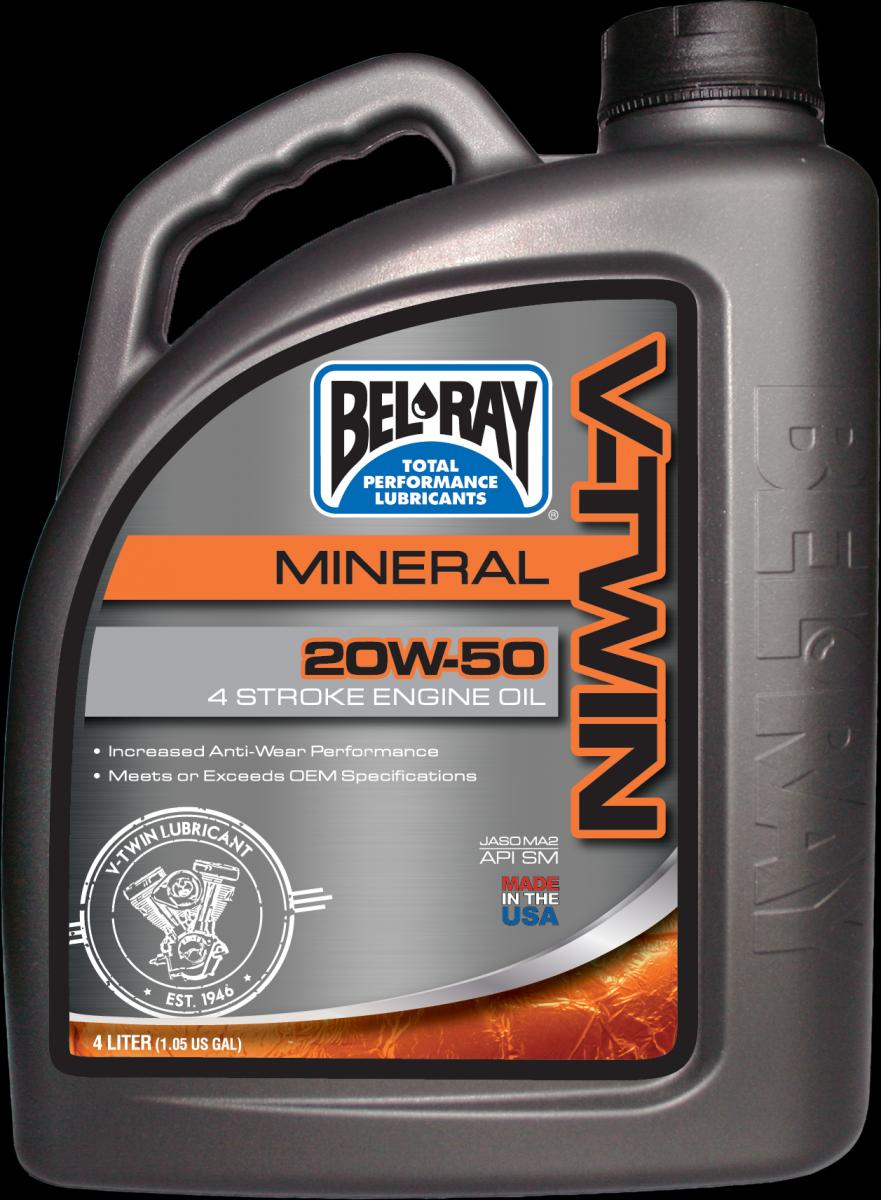 Bel-Ray V-Twin Mineral 20W-50 motorolie (4L)