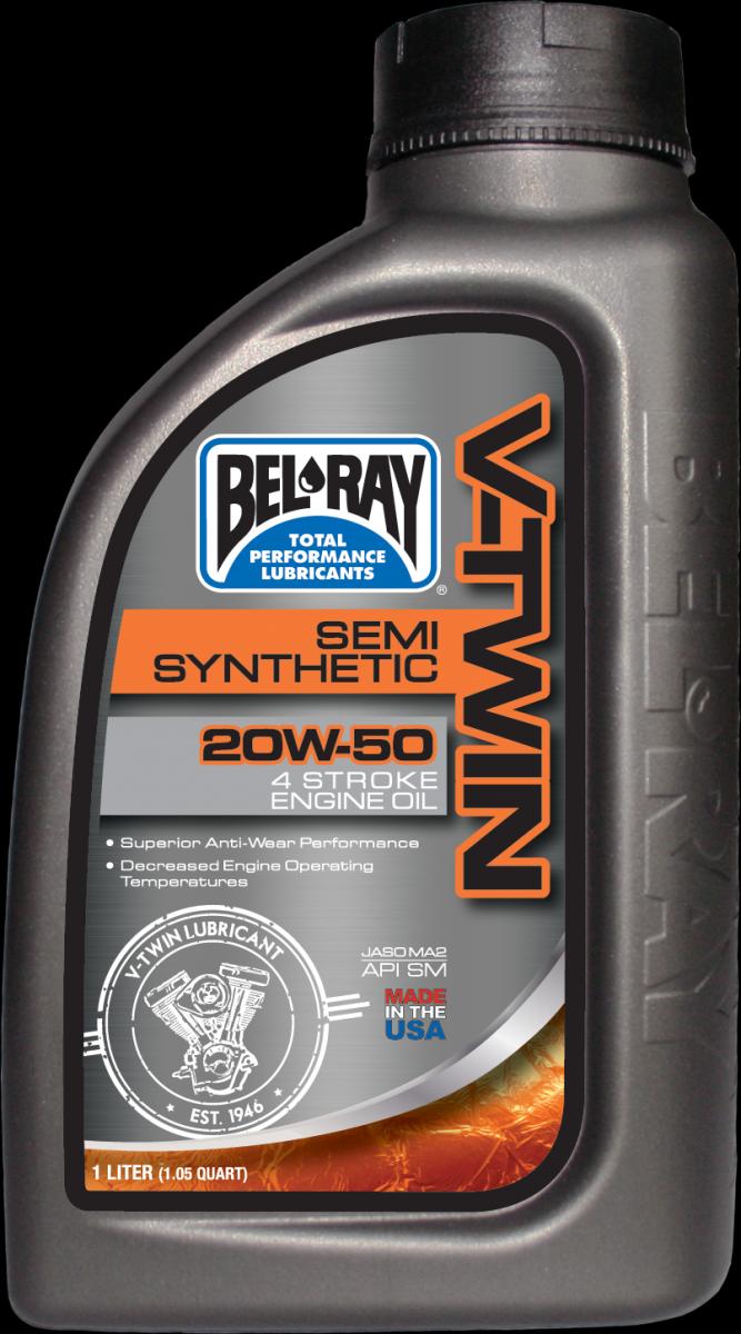Bel-Ray V-Twin Semi-Synthetic 20W-50 motorolie (1L)