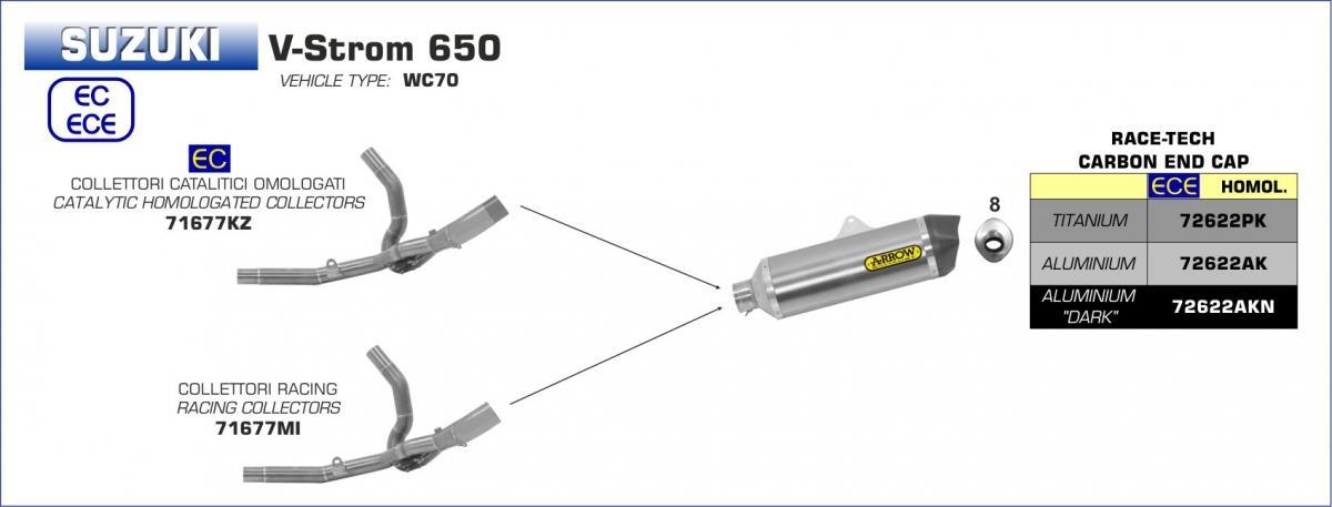 Arrow Race-Tech Titanium uitlaatdemper
