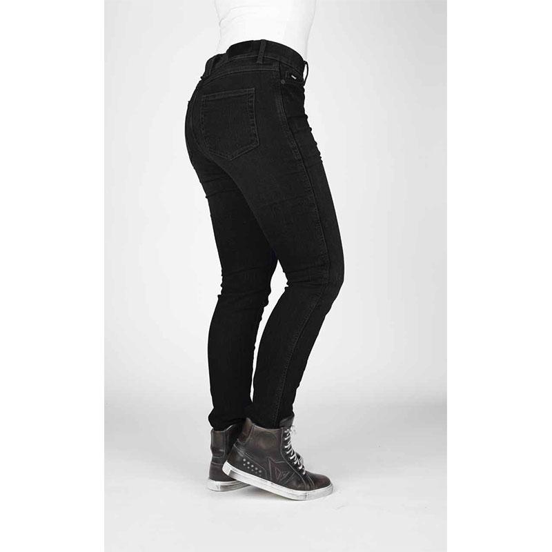 Bull-It Icona Black dames motorjeans (slim-fit/lang)