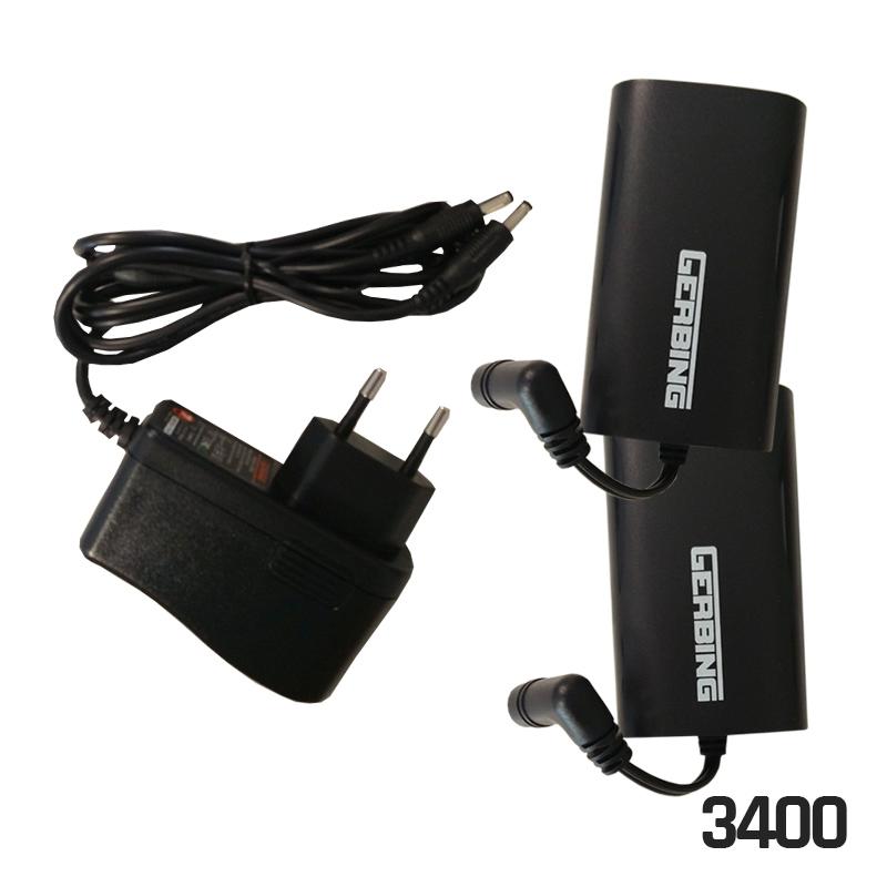 Gerbing B7V 3.4 Amp batterijkit + lader (7 volt)PB