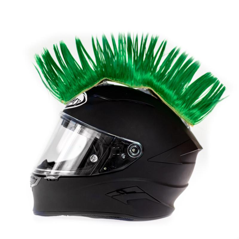Helm hanekam groen