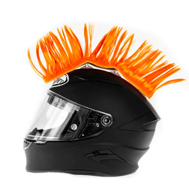 Helm hanekam oranje