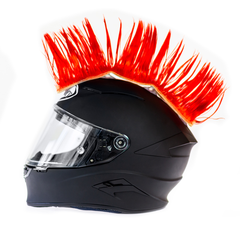 Helm hanekam rood