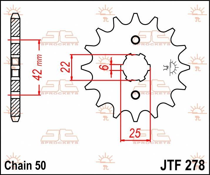 JT Sprockets voortandwiel 17T, 530