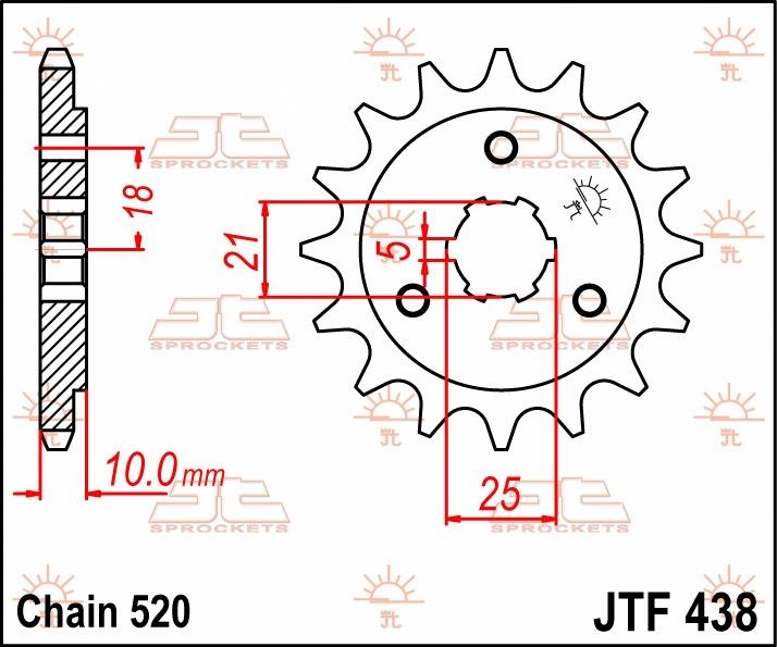 JT Sprockets voortandwiel 15T, 520
