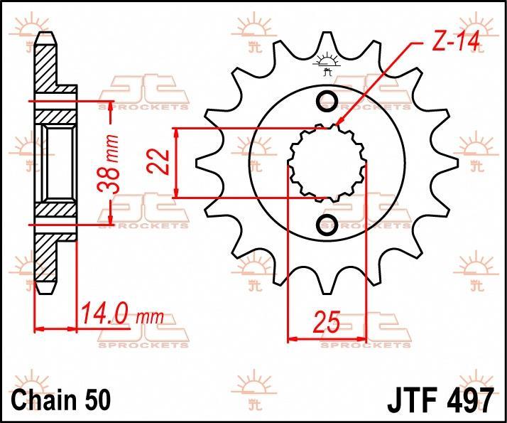 JT Sprockets voortandwiel 15T, 530