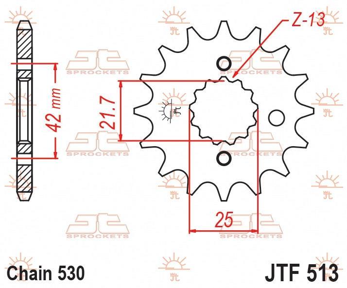 JT Sprockets voortandwiel 18T RB, 530