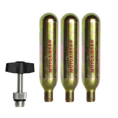 MotoAirbag Recharge kit 3 bottles