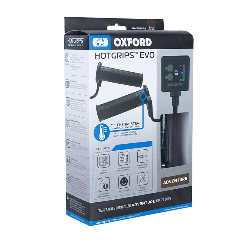 Oxford EVO Adventure handvatverwarming (122 - 132mm)
